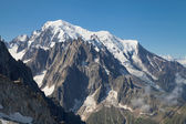 Mont Blanc massif from Grands Montets — Stock Photo