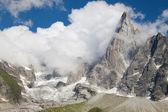 Glacier and Aiguille du Dru — Stock Photo