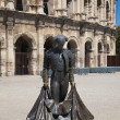 Bullfighter Statue in Nimes — Stock Photo