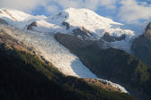 Glacier des Bossons at dusk — Stock Photo