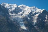 Mont Blanc range from Brevent — Stock Photo