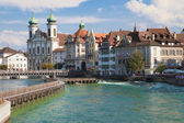 River Reuss at Lucerne — Stock Photo
