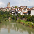 Sarine River at Fribourg — Stock Photo