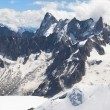 Stock Photo: Grandes Jorasses and Dent du Geant