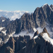 Aiguille Verte from Aiguille du Midi — Stock Photo