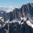 Stock Photo: Aiguille Verte from Aiguille du Midi