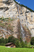 Lauterbrunnen waterfall — Stock Photo