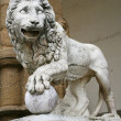 Stock Photo: Medici Lion by Flaminio Vacca