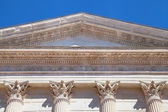 Maison Carree Pediment — Stock Photo