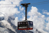 Aiguille du Midi Cable Car — Stock Photo