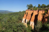 Ochre cliffs in Roussillon — Stock Photo