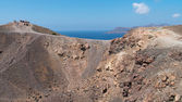 Crater of volcano Nea Kameni in Santorini — Photo
