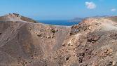 Crater of volcano Nea Kameni in Santorini — Stock Photo