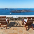 Sea view from Fira, Santorini — Stock Photo