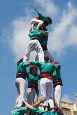 Castellers de la Sagrada Familia — Stock Photo