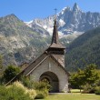 Chapel of Les Praz and the Drus — Stock Photo #49424111
