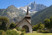 Chapel of Les Praz and the Drus — 图库照片