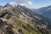 Aiguilles Rouges from Brevent — Stock Photo