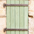 Old wooden window shutter — Stock Photo