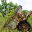 Old rusty trailer from the side — Stock Photo