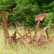 Old rusty thresher — Stock Photo