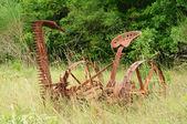 Old rusty thresher — Stock Photo
