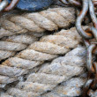 Stock Photo: Rope and chain