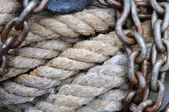 Seil- und — Stockfoto