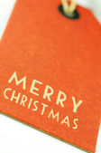 Merry christmas label — Stock Photo