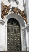 Entrance gates of the Christ the Savior Church in Moscow, Russia — Stock Photo
