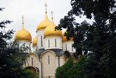 Moskiewski kreml. sobór zaśnięcia. światowego dziedzictwa unesco. — Zdjęcie stockowe