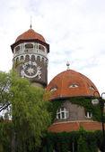 Beautiful water tower in Svetlogorsk, Russia — Stock Photo