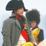 Napoleon greeting soldiers at Borodino 2012 historical reenactment — Stock Photo #12642337