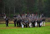 Soldati con le pistole alla rievocazione storica di borodino 2012 — Foto Stock