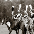Borodino 2012 historical reenactment in Russia - Stock Photo
