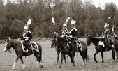 Rusya'nın tarihsel reenactment borodino 2012 — Stok fotoğraf