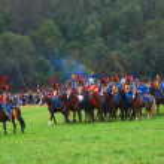Borodino 2012 historical reenactment in Russia — Stock Photo