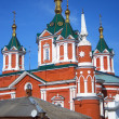 Beautiful old white church facade. Kremlin in Kolomna, Russia — Stock Photo #13587417