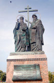 A monument to Cyril and Methodius in Kolomna Kremlin, Moscow region, Russia. — Stock Photo