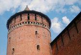 Marinkina tower and red bricks wall in Kremlin in Kolomna, Russia — Stock Photo