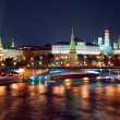 Stock Photo: Moscow Kremlin night panorama