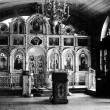 图库照片: Old church interior in Dmitrov city, Moscow region, Russia.