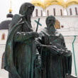 Monument to Cyril and Methodius in Dmitrov, Russia. - Photo