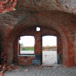 Old abandoned fort on the Baltic spit — Foto Stock