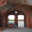 Old abandoned fort on the Baltic spit — Stok fotoğraf
