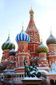 St. basil katedrála, rudé náměstí, moskva, rusko. unesco svět on — Stock fotografie