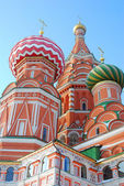 St. bazylia katedra, plac czerwony, moskwa, federacja rosyjska. unesco świat on — Zdjęcie stockowe