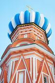 冲天炉的圣巴兹尔大教堂、 红场,莫斯科,俄罗斯. — 图库照片
