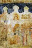 Painting on the facade of Arkhangel's church. Moscow Kremlin. — Stock Photo