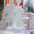 Ice Sculpture exhibition on the Red Square — Photo